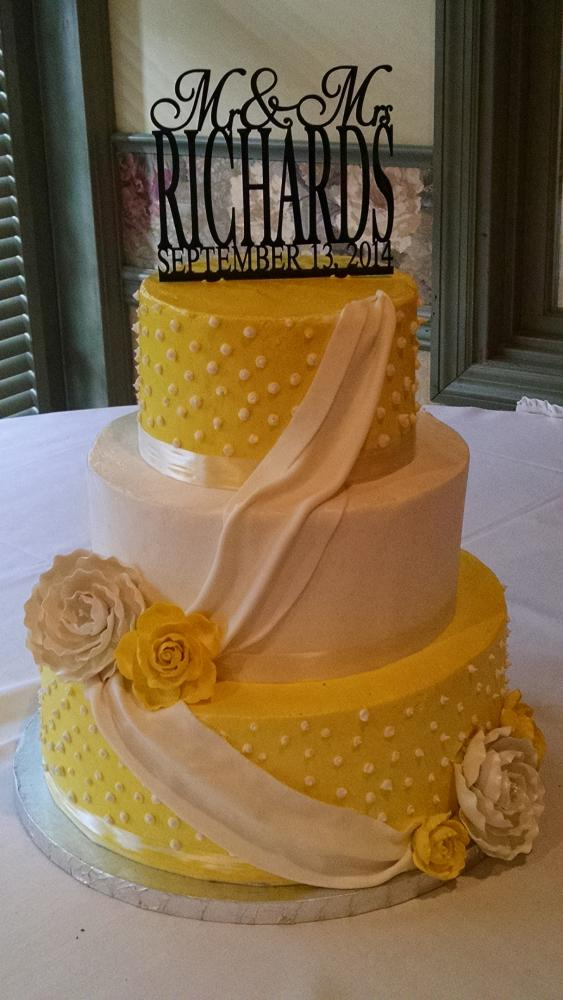 Vegan Yellow & White Tiered